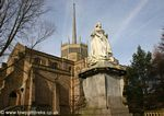 Queen Victoria Statue besides Blackburn Cathedral